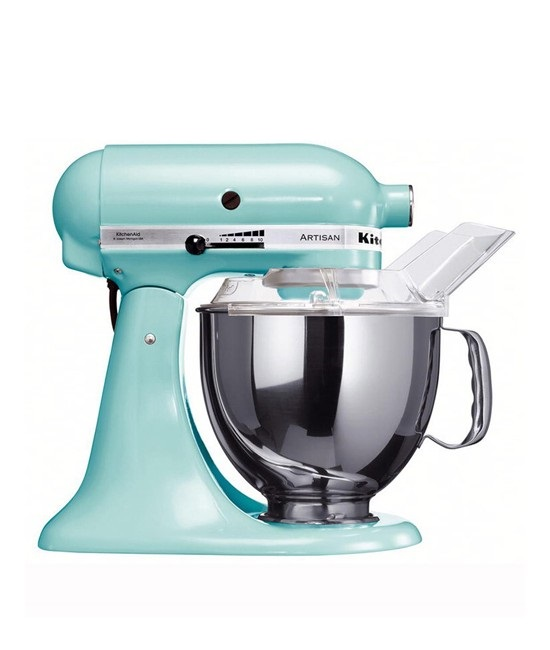 Онлайн каталог PROMENU: Миксер планетарный KitchenAid Artisan, 4,83 л, голубой                                  KitchenAid 5KSM150PSEIC