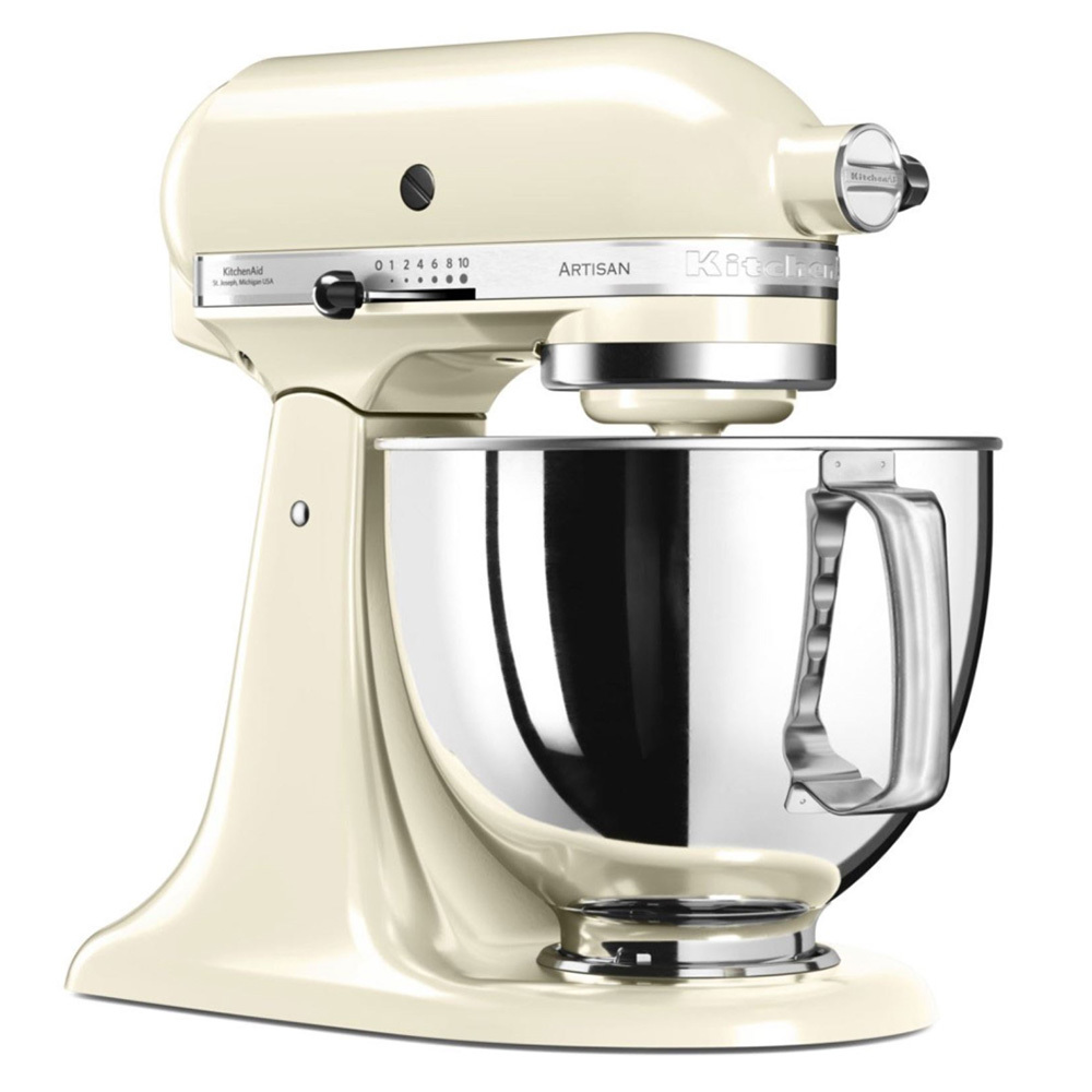 Онлайн каталог PROMENU: Миксер планетарный KitchenAid Artisan, 4,83 л, кремовый                                  KitchenAid 5KSM125PSEAC