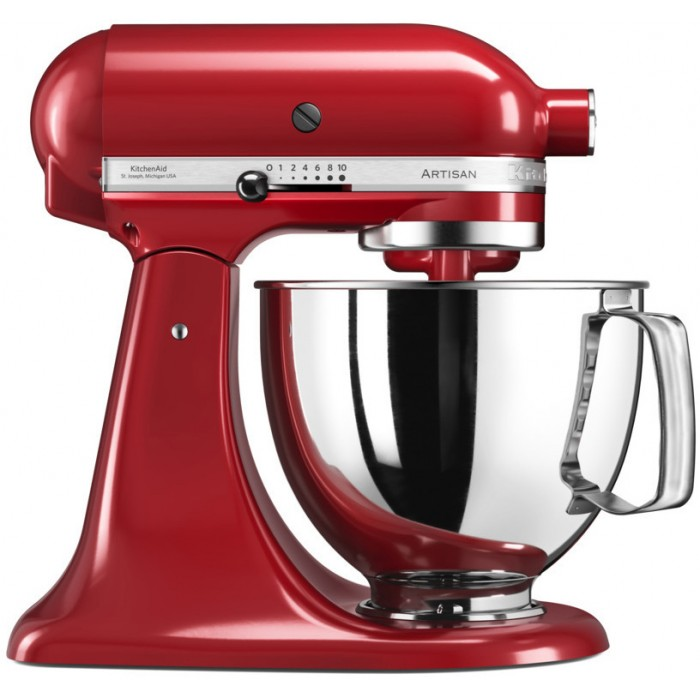 Онлайн каталог PROMENU: Миксер планетарный KitchenAid Artisan, 4,83 л, красный                                  KitchenAid 5KSM125PSEER_r