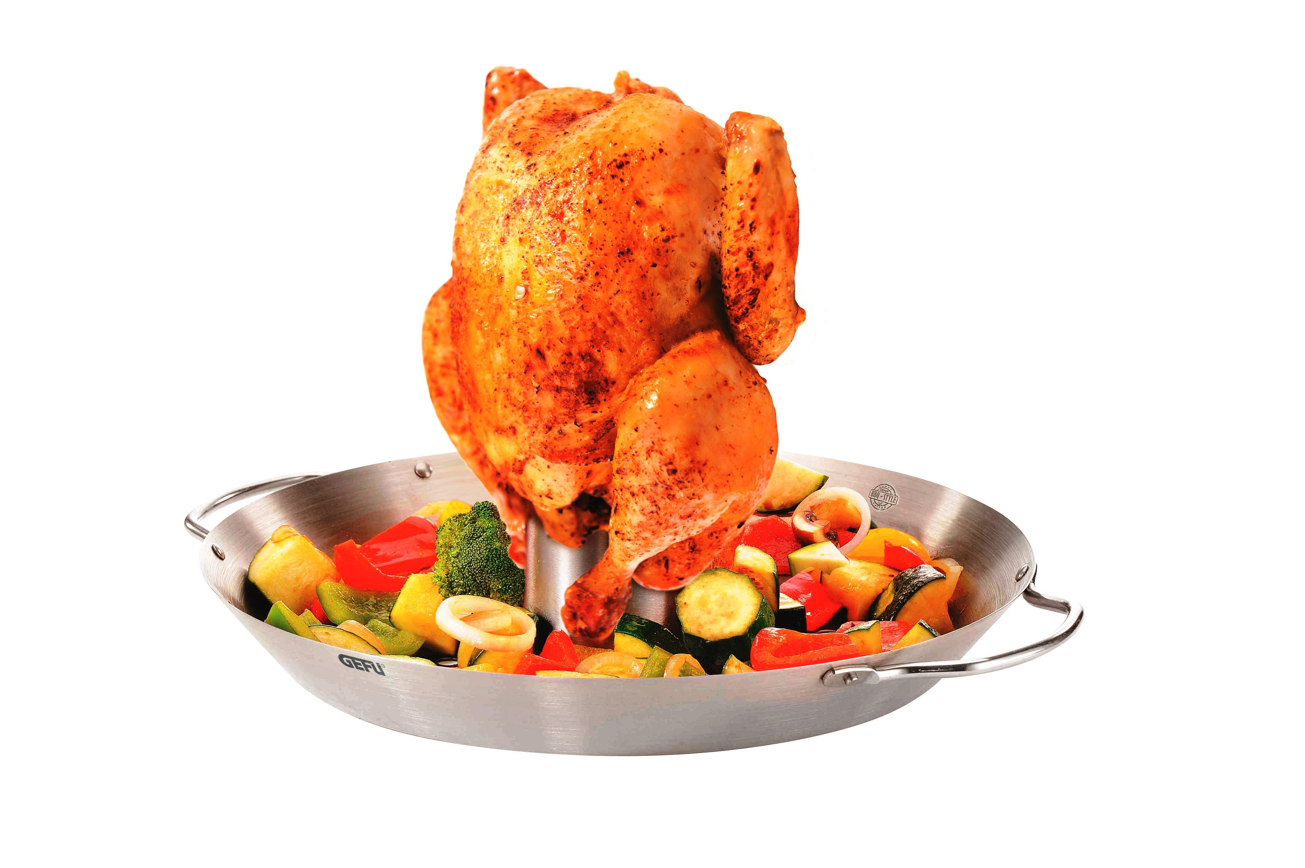 Онлайн каталог PROMENU: набор жаровня для курицы и вок для барбекю, 2 пр                                  GEFU 89156