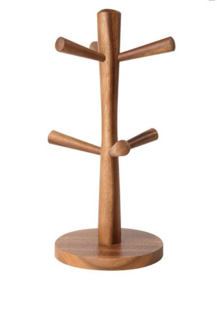 Онлайн каталог PROMENU: Подставка деревянная для кружек на 6 штук T&G Tuscany, 31х14 см                                  T&G 10592
