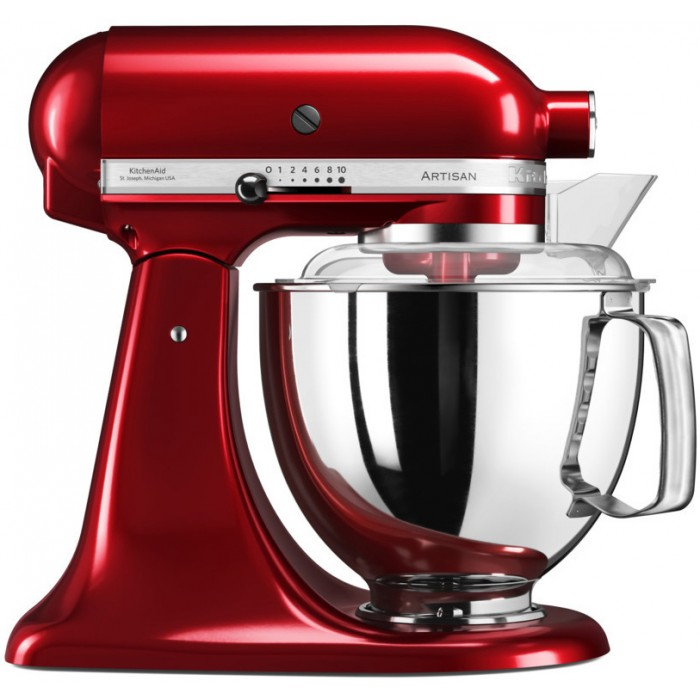 Онлайн каталог PROMENU: Миксер планетарный KitchenAid Artisan, 4,83 л, красный                                  KitchenAid 5KSM175PSECA_r
