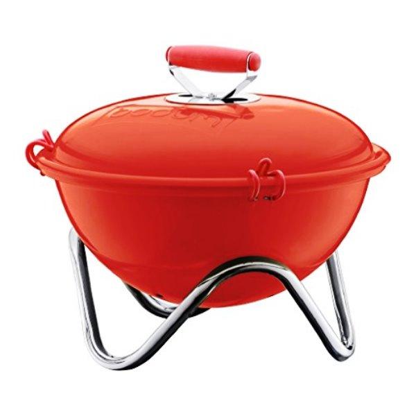 Онлайн каталог PROMENU: Гриль на углях для пикника Bodum Fyrkat, 39х39х36 см, красный                                  Bodum 10630-294