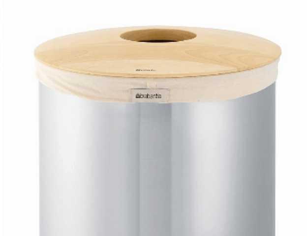 Бак для белья с деревянной крышкой Brabantia, объем 50 л, серебристый Brabantia 375309 фото 2