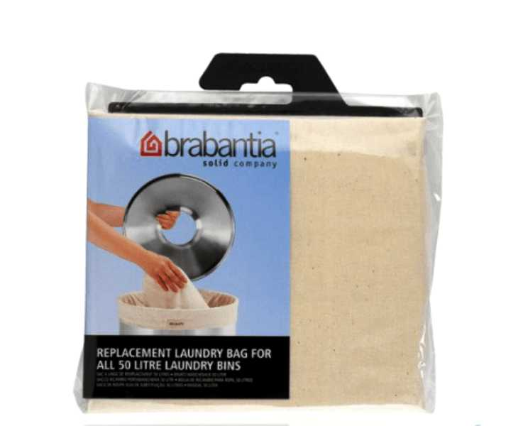 Бак для белья с деревянной крышкой Brabantia, объем 50 л, серебристый Brabantia 375309 фото 4