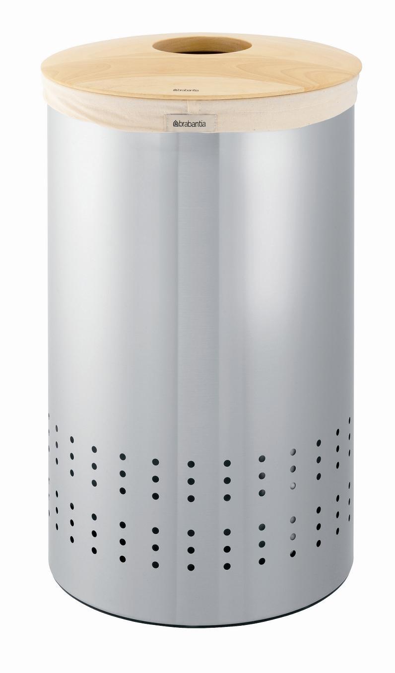 Онлайн каталог PROMENU: Бак для белья с деревянной крышкой Brabantia, объем 50 л, серебристый Brabantia 375309