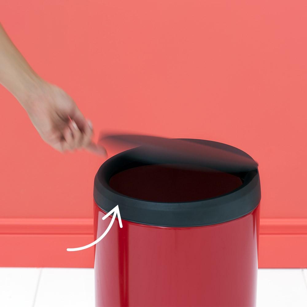 Бак для мусора Flip Bin Brabantia, объем 30 л, красный Brabantia 106903 фото 5