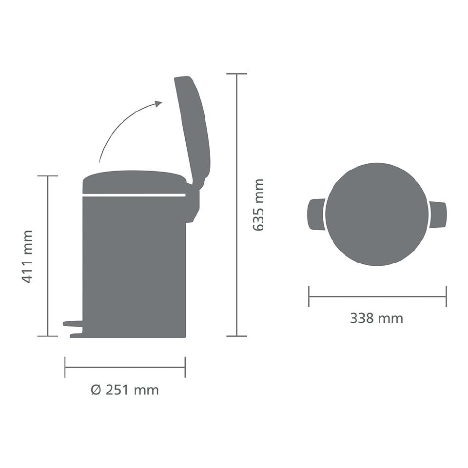 Бак для мусора Pedal Bin Brabantia newIcon, объем 12 л, бежевый Brabantia 113468 фото 6