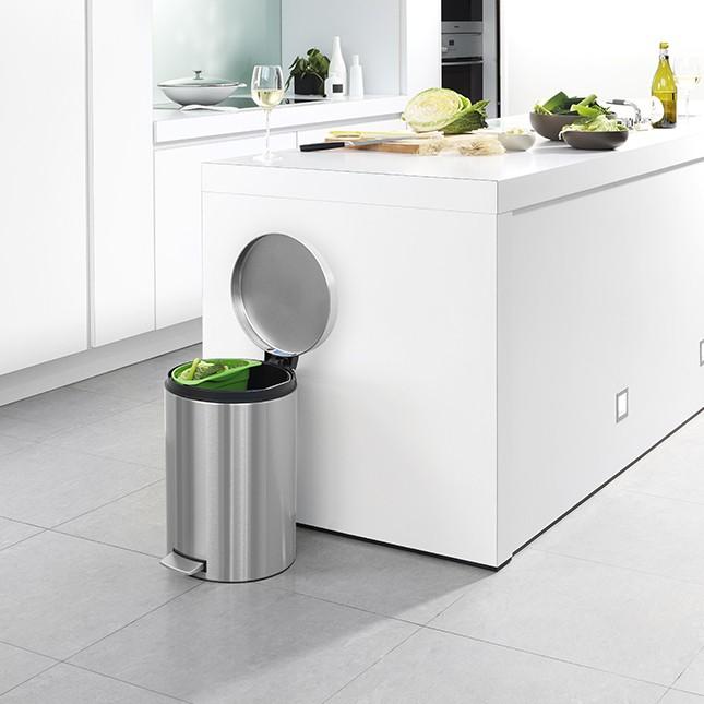 Бак для мусора Pedal Bin Brabantia, объем 20 л, серебристо-серый Brabantia 478406 фото 6