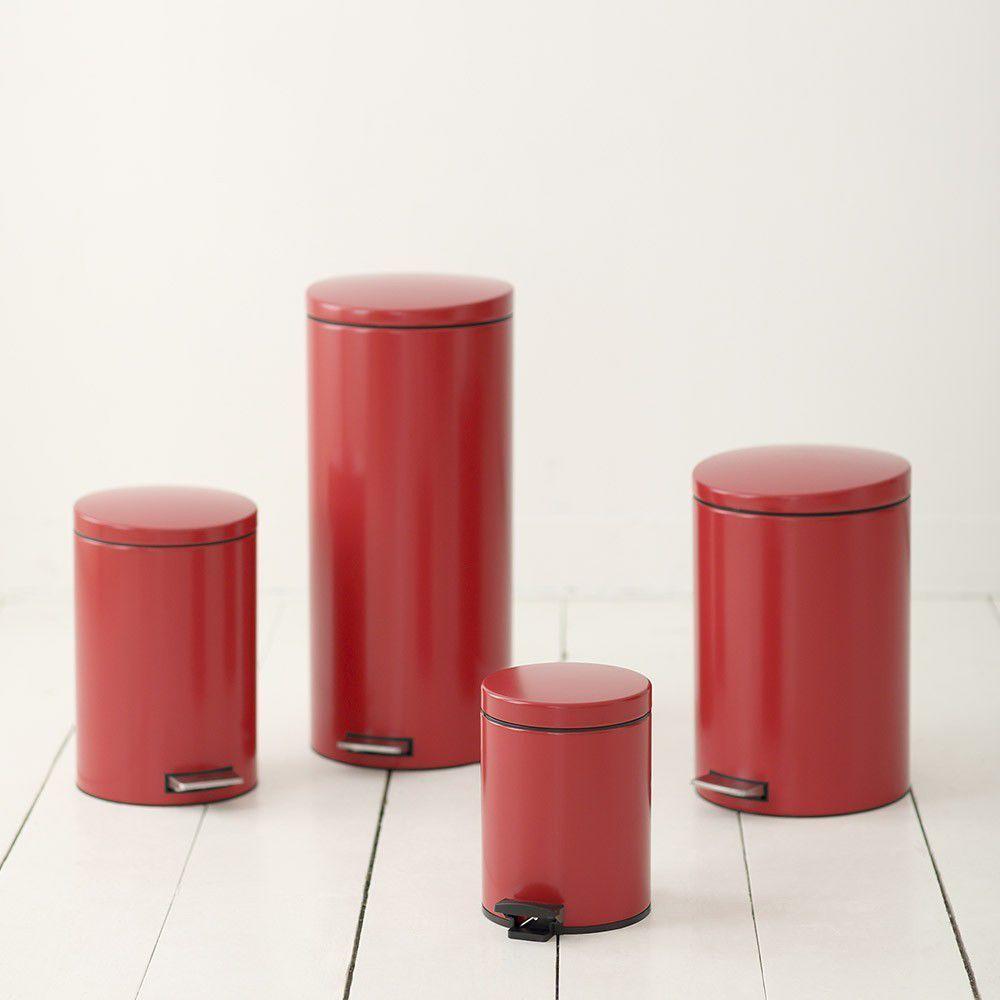 Бак для мусора Pedal Bin Brabantia, объем 20 л, красный Brabantia 483745 фото 2