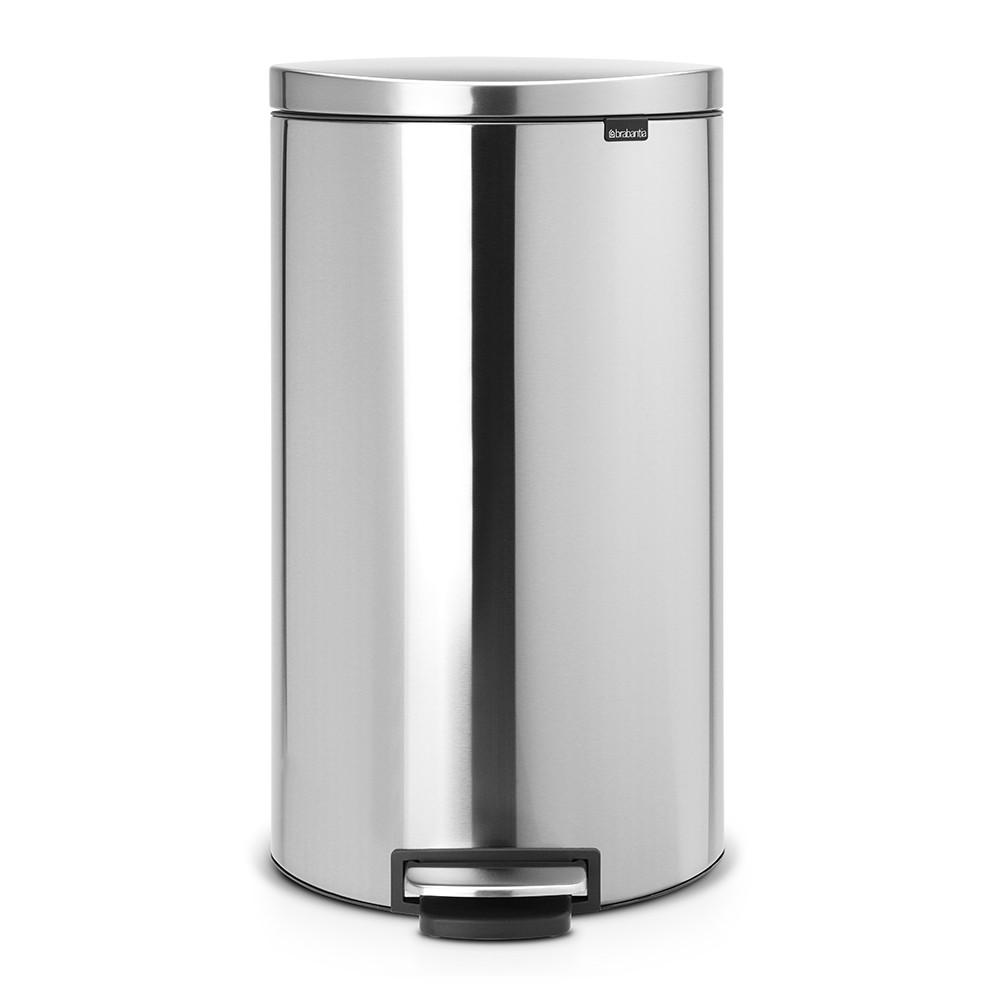 Онлайн каталог PROMENU: Бак для мусора Pedal Bin Brabantia, объем 30 л, серебристо-серый Brabantia 482007