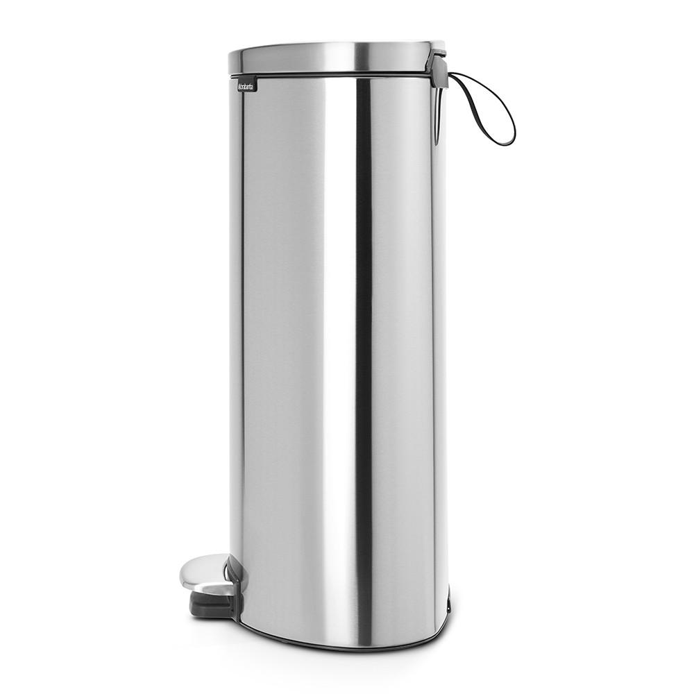 Бак для мусора Pedal Bin Brabantia, объем 30 л, серебристо-серый Brabantia 482007 фото 1