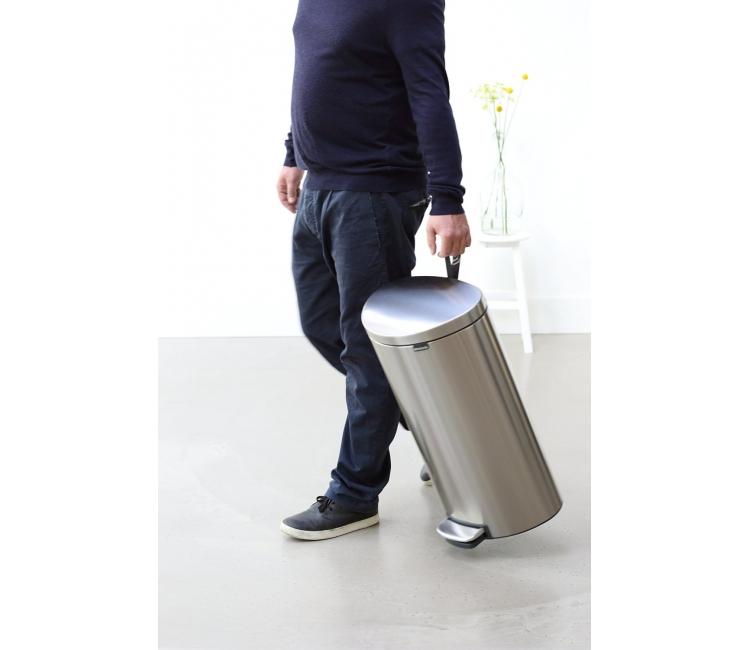 Бак для мусора Pedal Bin Brabantia, объем 30 л, серебристо-серый Brabantia 482007 фото 4