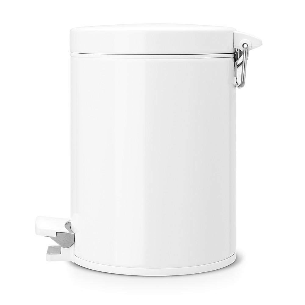 Онлайн каталог PROMENU: Бак для мусора Pedal Bin Brabantia, объем 5 л, белый Brabantia 283420
