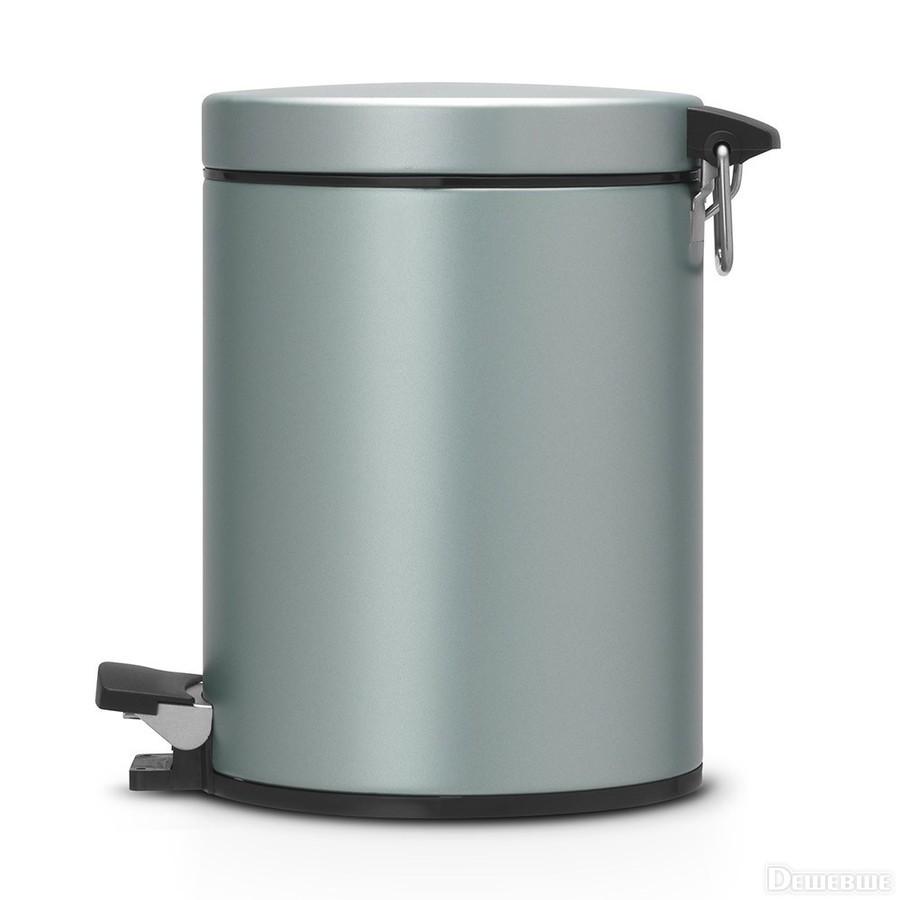 Онлайн каталог PROMENU: Бак для мусора Pedal Bin Brabantia, объем 5 л, мятный металлик Brabantia 484087
