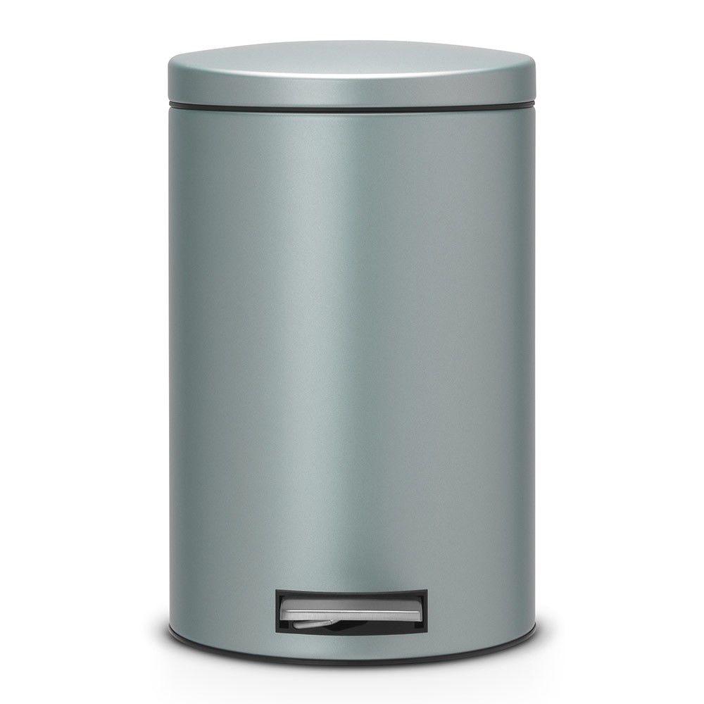 Онлайн каталог PROMENU: Бак для мусора Pedal Bin Silent Brabantia, объем 12 л, мятный металлик Brabantia 484209