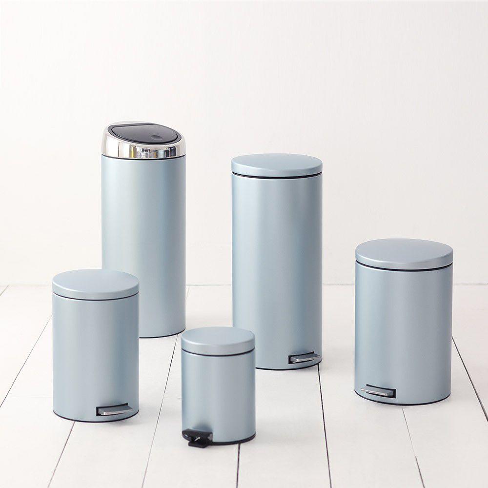 Бак для мусора Pedal Bin Silent Brabantia, объем 12 л, мятный металлик Brabantia 484209 фото 1