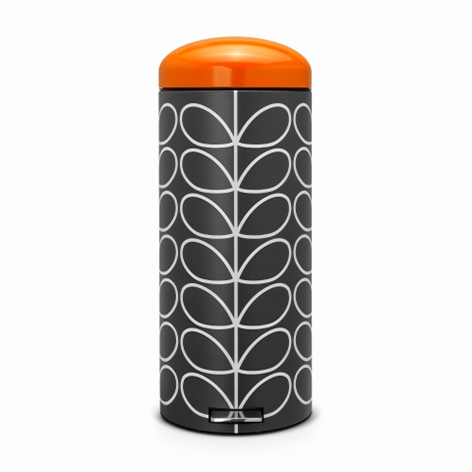 Онлайн каталог PROMENU: Бак для мусора Retro Bin Brabantia, объем 30 л, черный с оранжевым Brabantia 106842