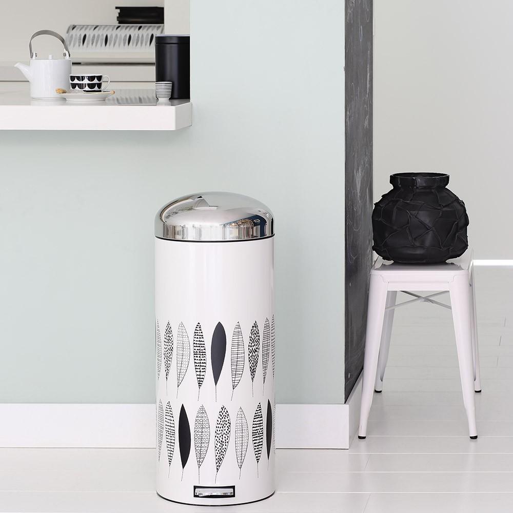 Бак для мусора Retro Bin Brabantia, объем 30 л, белый с черным Brabantia 483967 фото 3