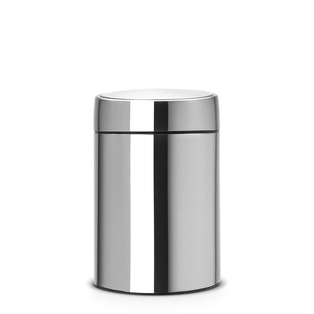 Онлайн каталог PROMENU: Бак для мусора Slide Bin Brabantia, объем 5 л, серебристый Brabantia 477546