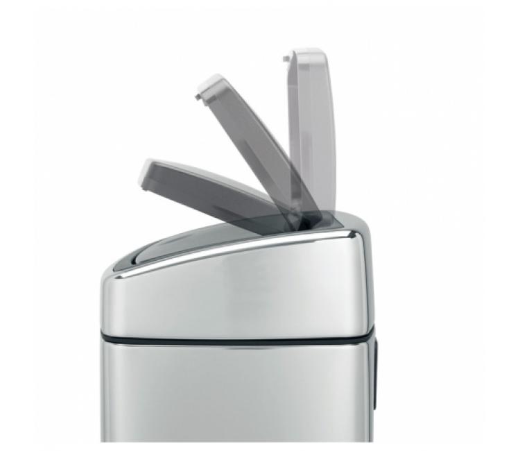 Бак для мусора Touch Bin Brabantia, объем 10 л, серебристый Brabantia 477225 фото 7