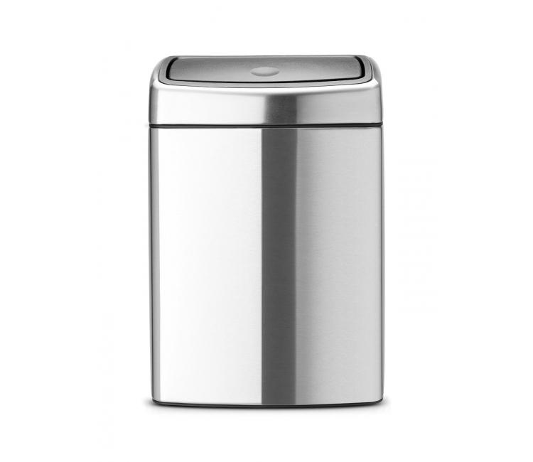 Онлайн каталог PROMENU: Бак для мусора Touch Bin Brabantia, объем 10 л, серебристый Brabantia 477225