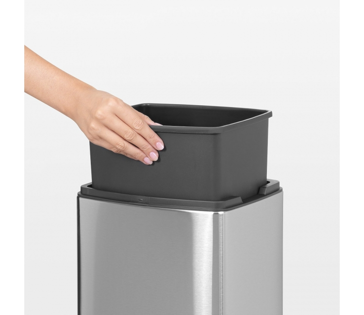 Бак для мусора Touch Bin Brabantia, объем 10 л, серебристый Brabantia 477225 фото 6