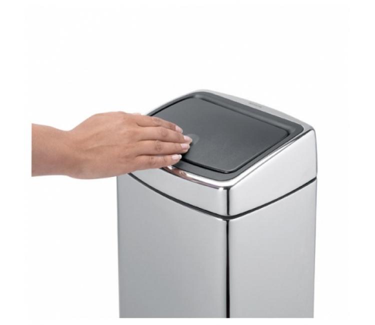 Бак для мусора Touch Bin Brabantia, объем 10 л, серебристый Brabantia 477225 фото 3