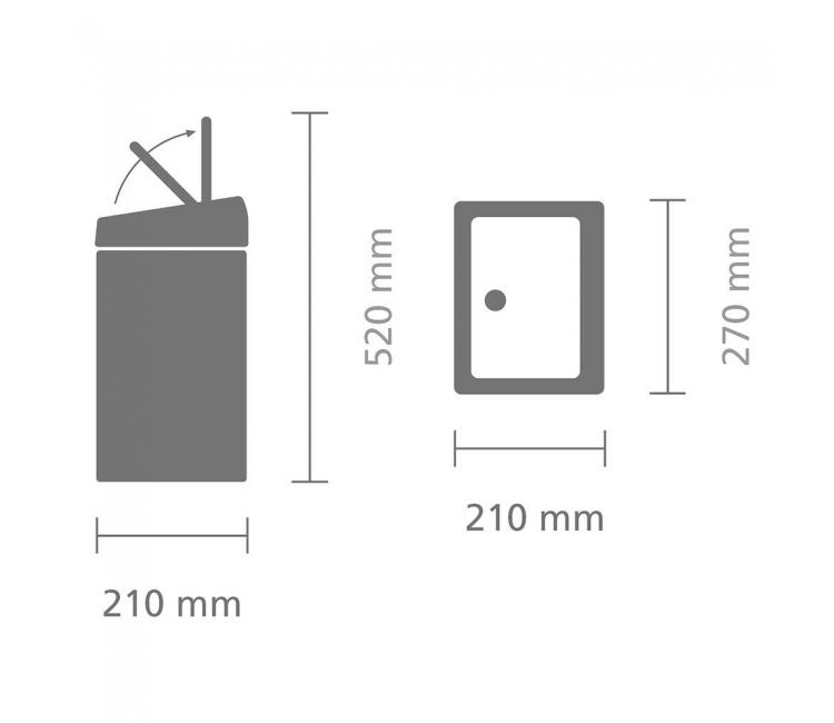 Бак для мусора Touch Bin Brabantia, объем 10 л, серебристый Brabantia 477225 фото 5