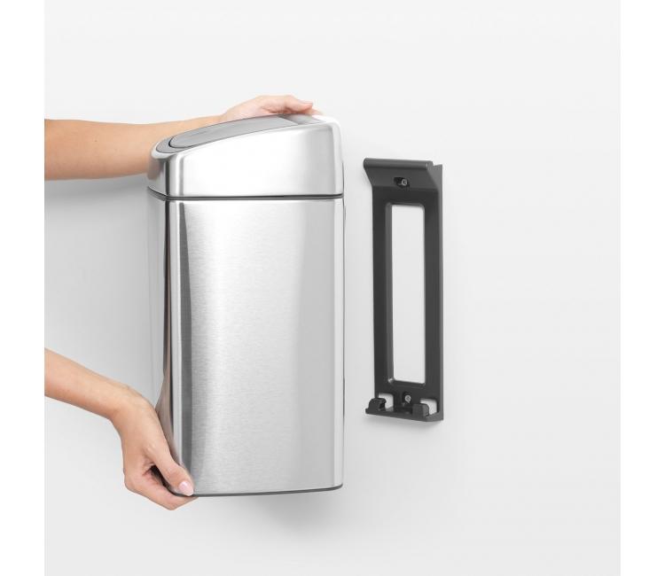 Бак для мусора Touch Bin Brabantia, объем 10 л, серебристый Brabantia 477225 фото 13