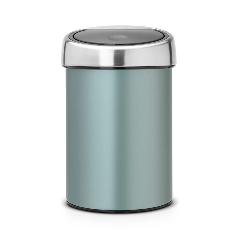 Онлайн каталог PROMENU: Бак для мусора Touch Bin Brabantia, объем 3 л, мятный металлик Brabantia 364402