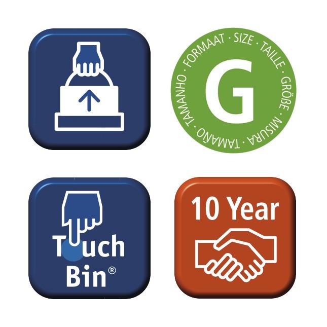 Бак для мусора Touch Bin Brabantia, объем 30 л, бирюзовый Brabantia 481925 фото 3