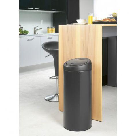 Бак для мусора Touch Bin Brabantia, объем 30 л, черный Brabantia 391743 фото 2