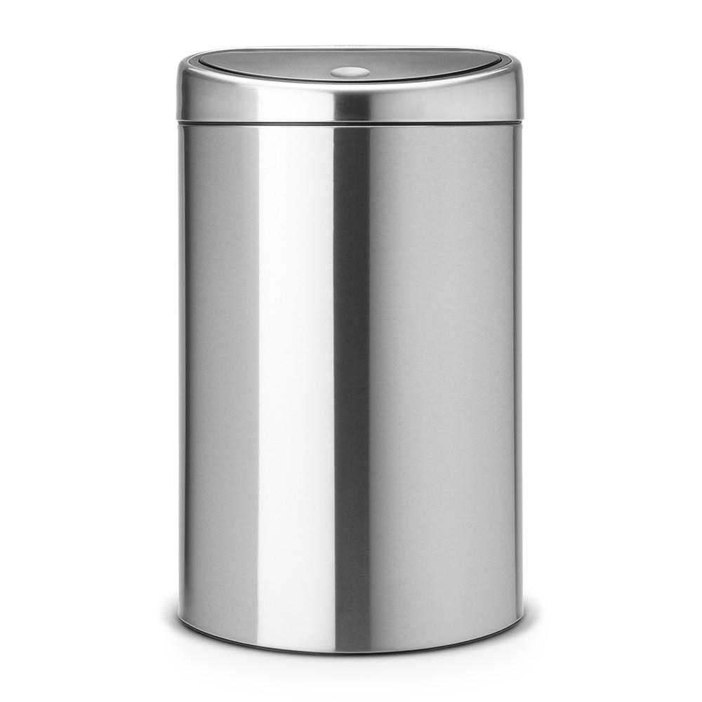 Онлайн каталог PROMENU: Бак для мусора Touch Bin Brabantia, объем 40 л, серебристо-серый Brabantia 378683