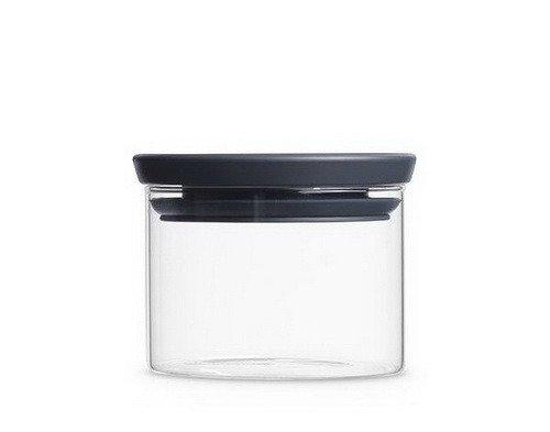 Онлайн каталог PROMENU: Банка модульная стеклянная Brabantia, объем 0,3 л, прозрачный с серым Brabantia 298301
