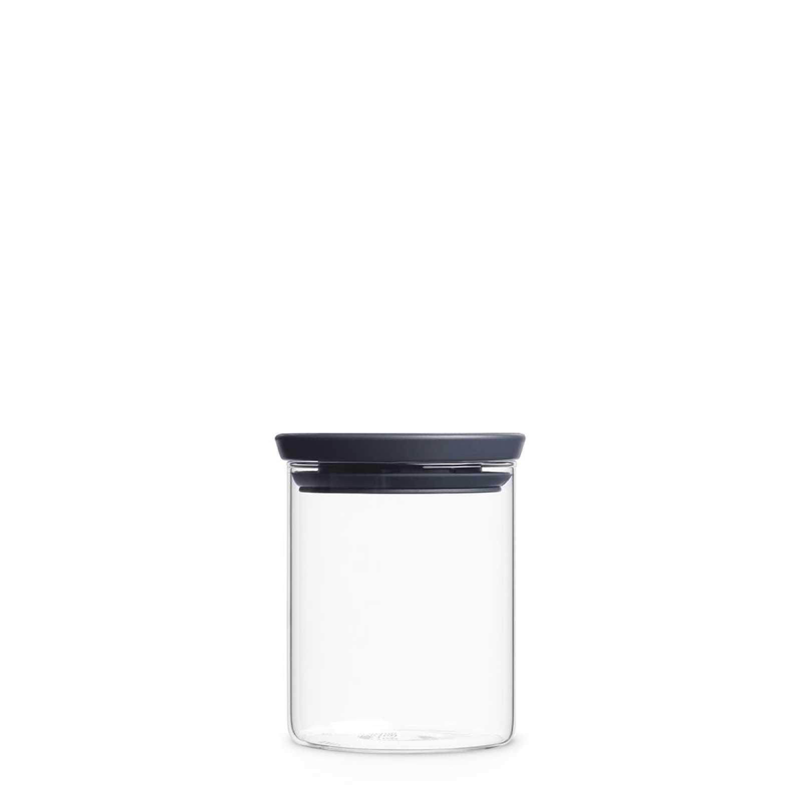 Онлайн каталог PROMENU: Банка модульная стеклянная Brabantia, объем 0,6 л, прозрачный с серым Brabantia 298288