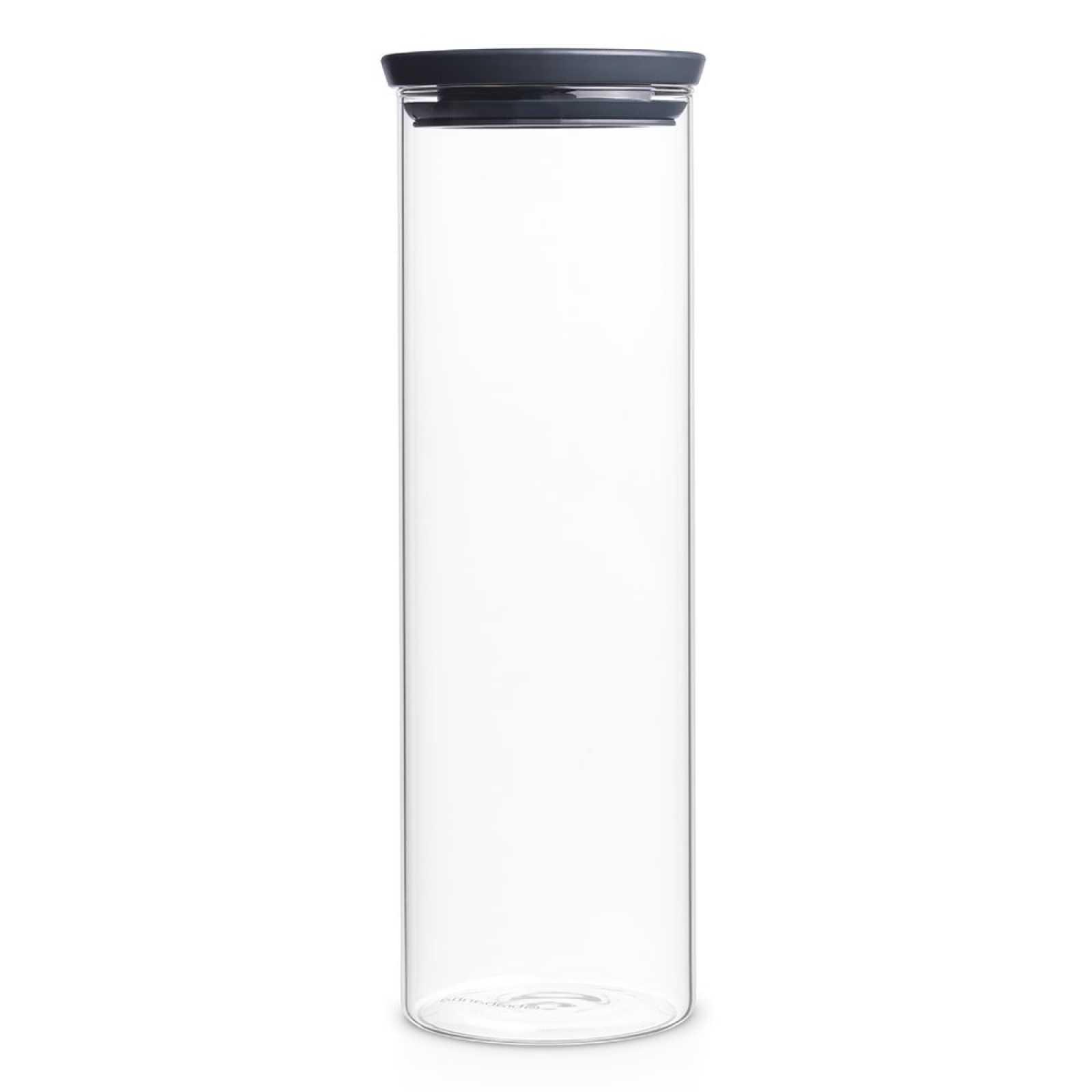 Онлайн каталог PROMENU: Банка модульная стеклянная Brabantia, объем 1,9 л, прозрачный с серым Brabantia 298240