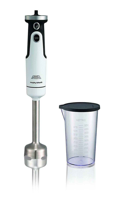 Онлайн каталог PROMENU: Блендер ручной погружной со стаканом с крышкой ( 0,75 л) Morphy Richards, белый                               402050EE