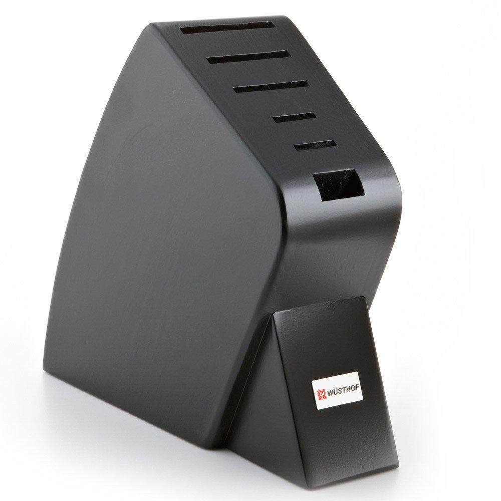 Онлайн каталог PROMENU: Блок для ножей деревянный на 6 предметов Wuesthof Storing Accessories, высота 26 см, черный Wuesthof 7249