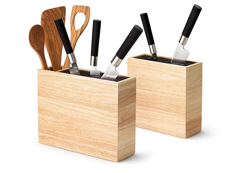 Блок для ножей со вставкой Continenta, 21,5x22x8,5 см, светло-бежевый Continenta 3314 фото 2