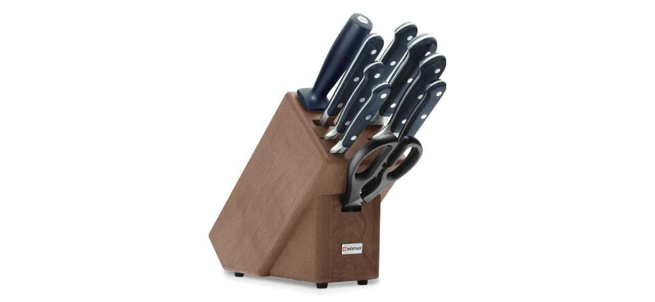 Блок с ножами Wuesthof Classic, коричневый, 10 предметов Wuesthof 9843 фото 0
