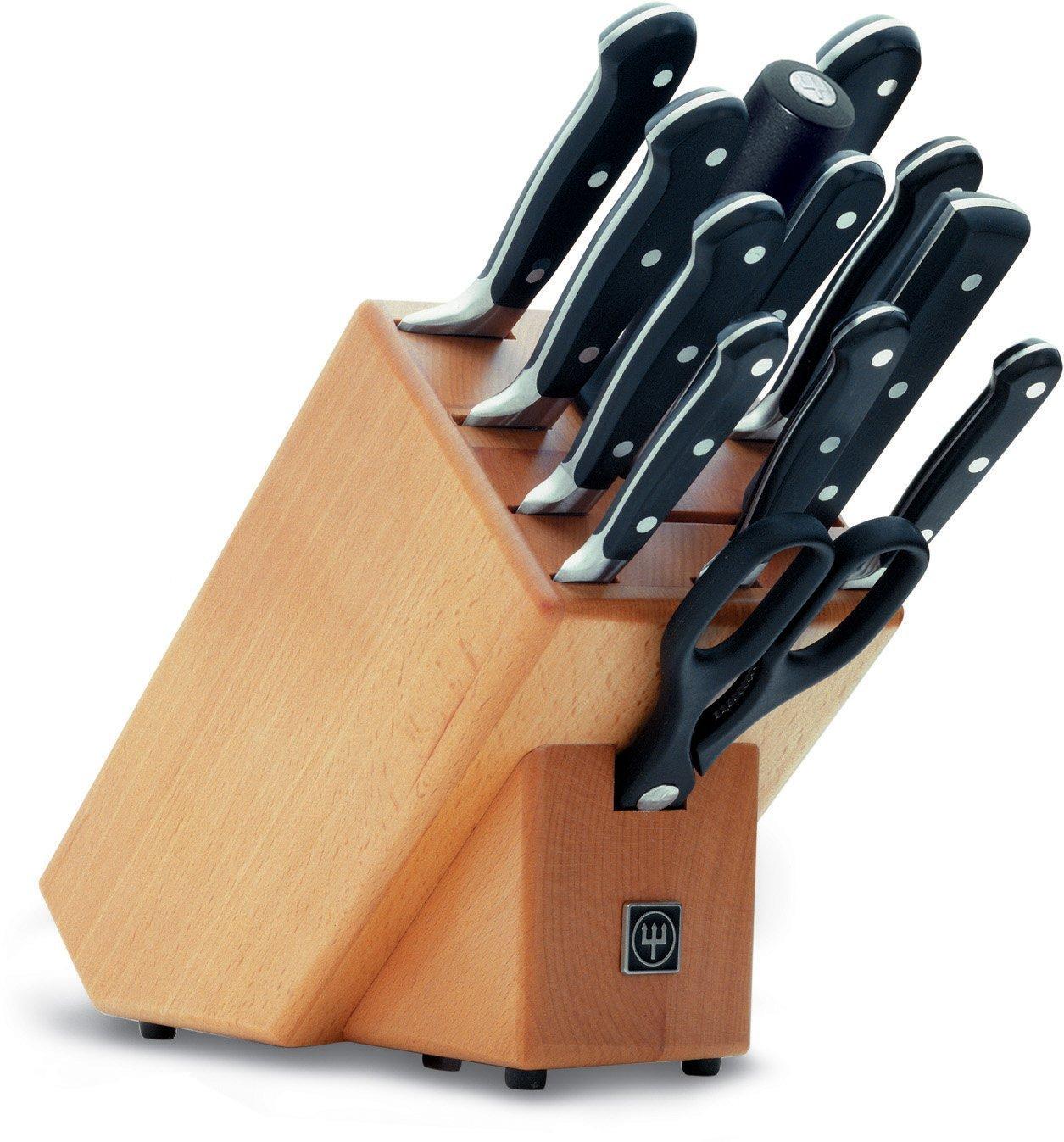 Онлайн каталог PROMENU: Блок с ножами Wuesthof Classic, бежевый, 13 предметов Wuesthof 9846