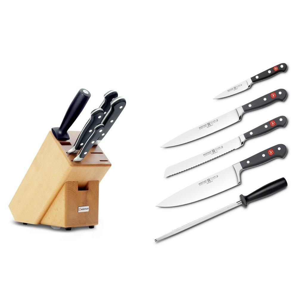 Набор ножей с блоком Wuesthof Classic, бежевый, 6 предметов Wuesthof 9832 фото 1
