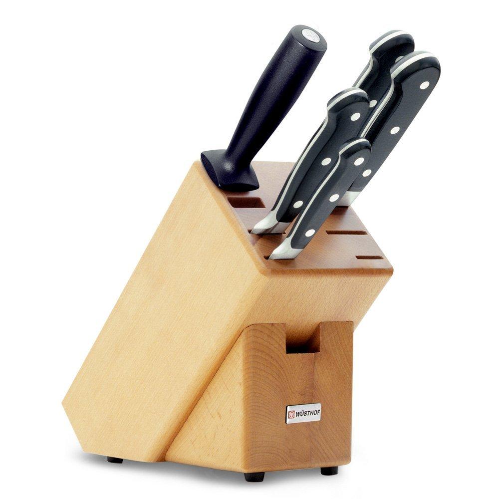 Онлайн каталог PROMENU: Набор ножей с блоком Wuesthof Classic, бежевый, 6 предметов Wuesthof 9832
