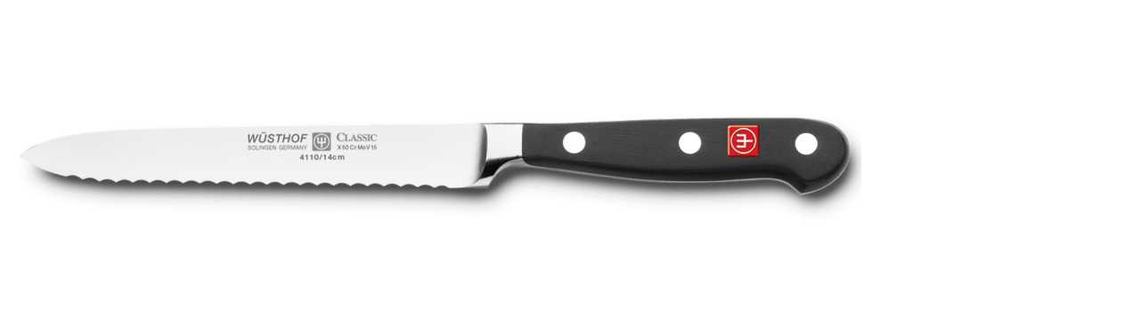 Блок с ножами Wuesthof Classic, черный, 10 предметов Wuesthof 9844 фото 6