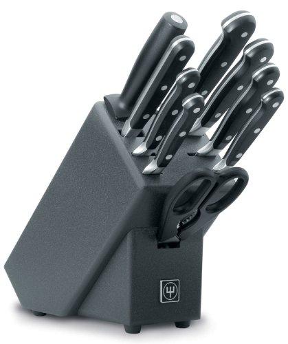 Блок с ножами Wuesthof Classic, черный, 10 предметов Wuesthof 9844 фото 0