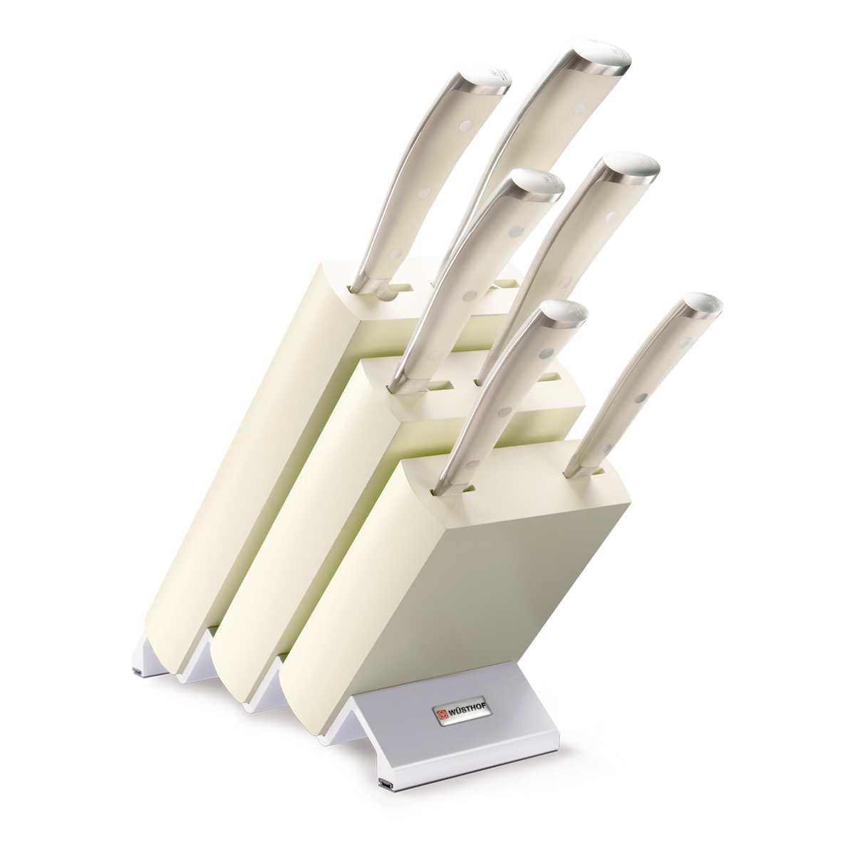 Онлайн каталог PROMENU: Набор ножей с блоком Wuesthof Classic Ikon Creme, кремовый, 7 предметов Wuesthof 9877