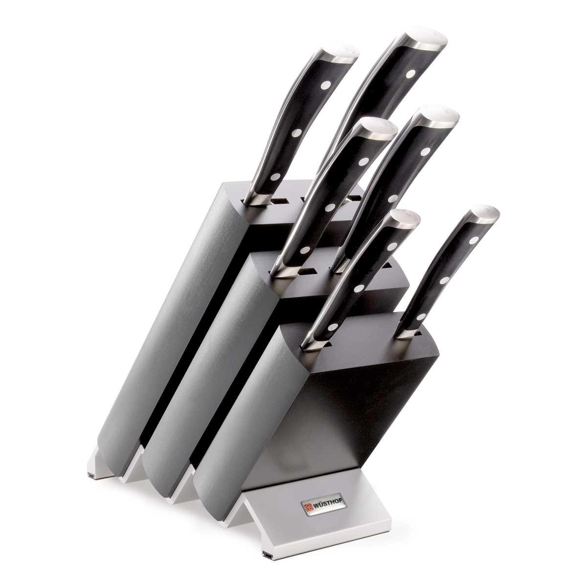 Онлайн каталог PROMENU: Блок с ножами Wuesthof Classic Ikon, темно-серый, 7 предметов Wuesthof 9876