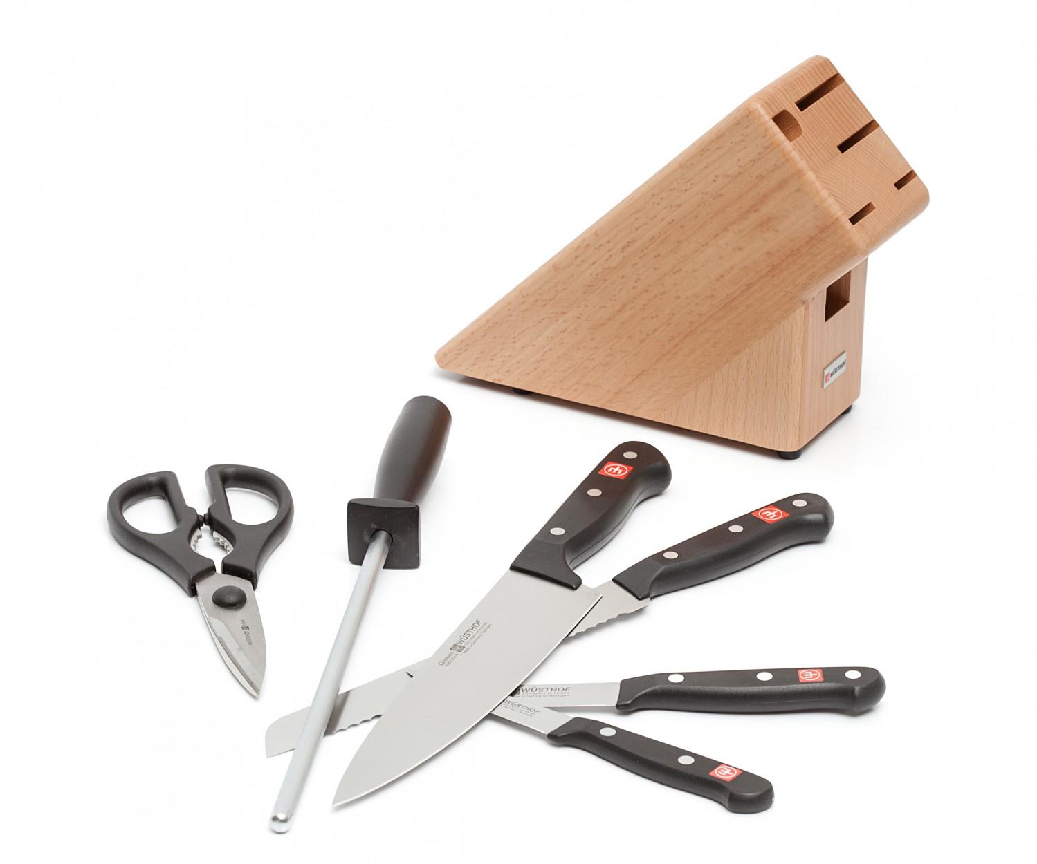 Блок с ножами Wuesthof Gourmet, бежевый, 7 предметов Wuesthof 9867-2 фото 1
