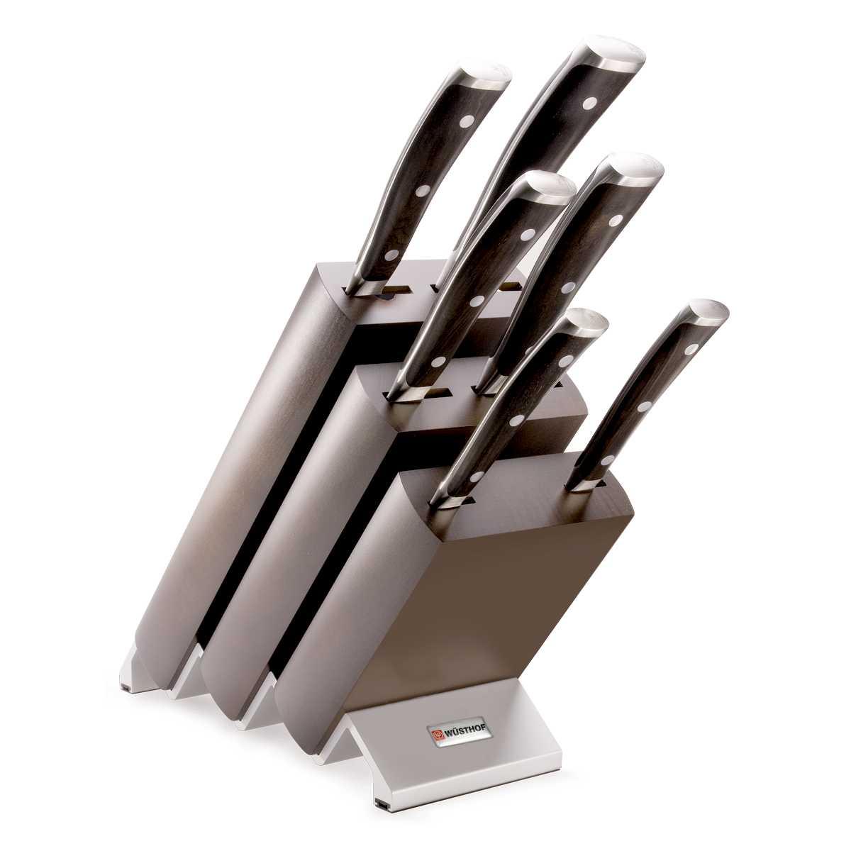 Онлайн каталог PROMENU: Набор ножей с блоком Wuesthof Ikon, коричневый, 7 предметов Wuesthof 9866